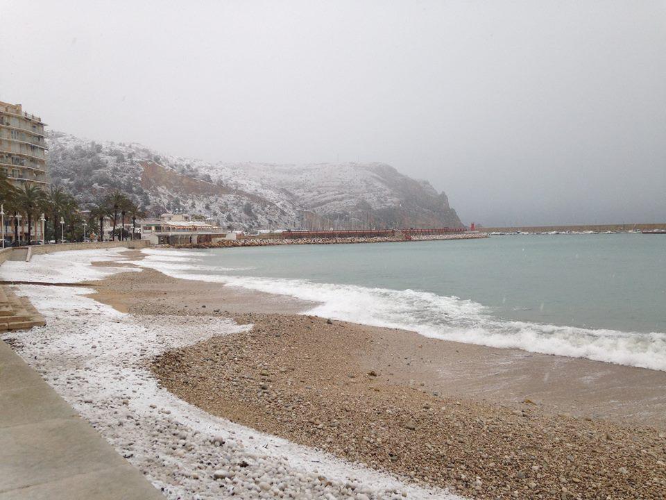 Nieve en Xàbia