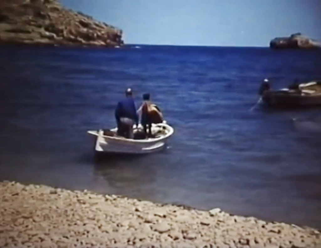 Barca en la Cala del Portitxol