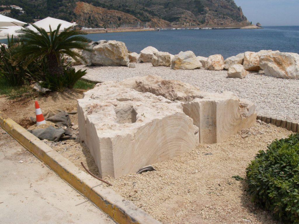 Instalación de las tumbas